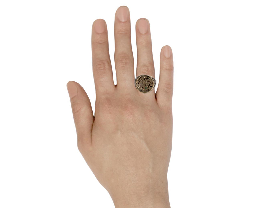 Gold Souvenir Signet Ring
