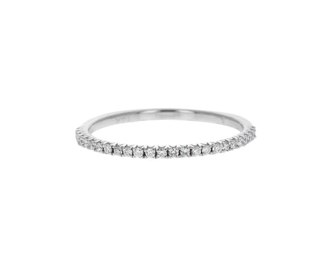 White Gold Half Odo Diamond Ring