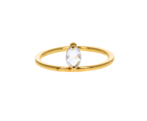 Rose Cut Marquise Diamond Pietro Ring