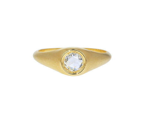 Concentric Rose Cut Diamond Ring