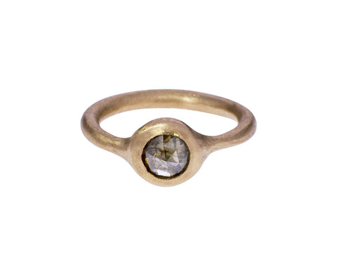 Golden Gray Diamond Solitaire - TWISTonline