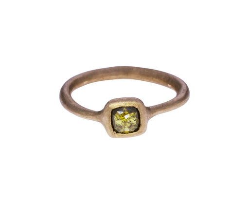 Lively Olive Green Square Diamond Solitaire - TWISTonline