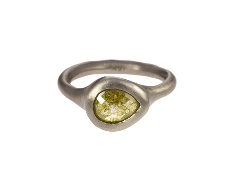 Gray Gold and Yellow Diamond Ring - TWISTonline