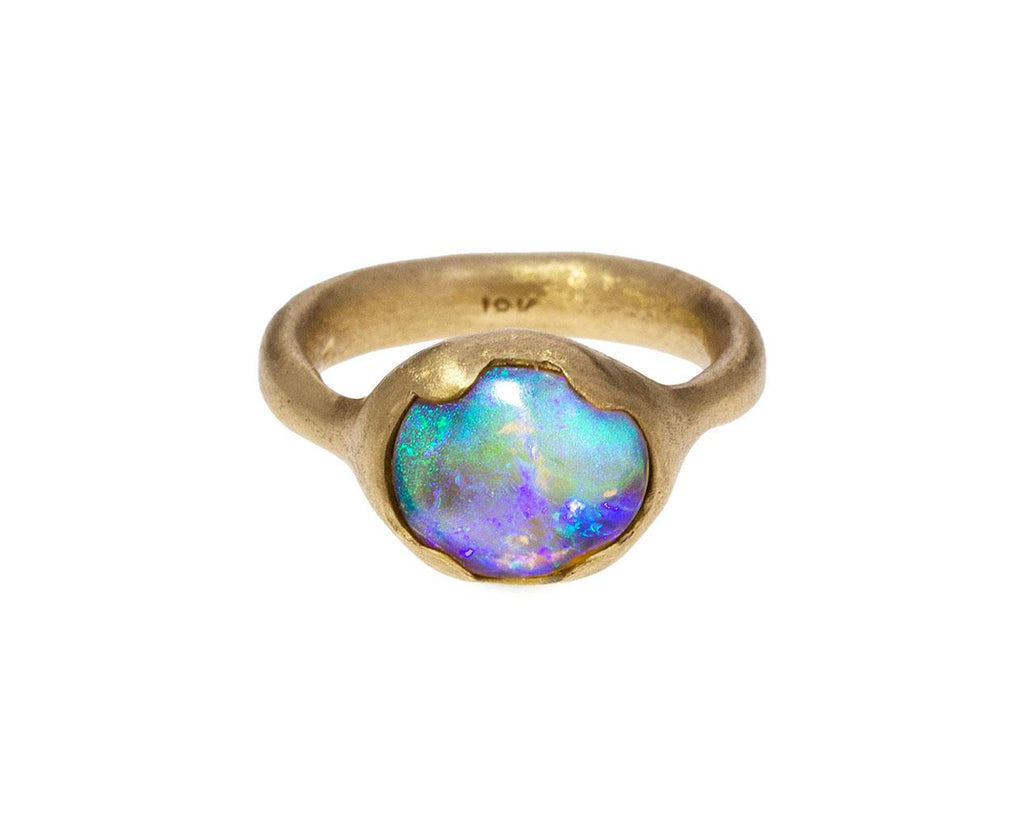 Painterly Purple Pink Opal Ring - TWISTonline