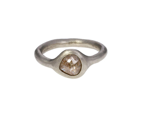 Silver Taupe Diamond Ring - TWISTonline