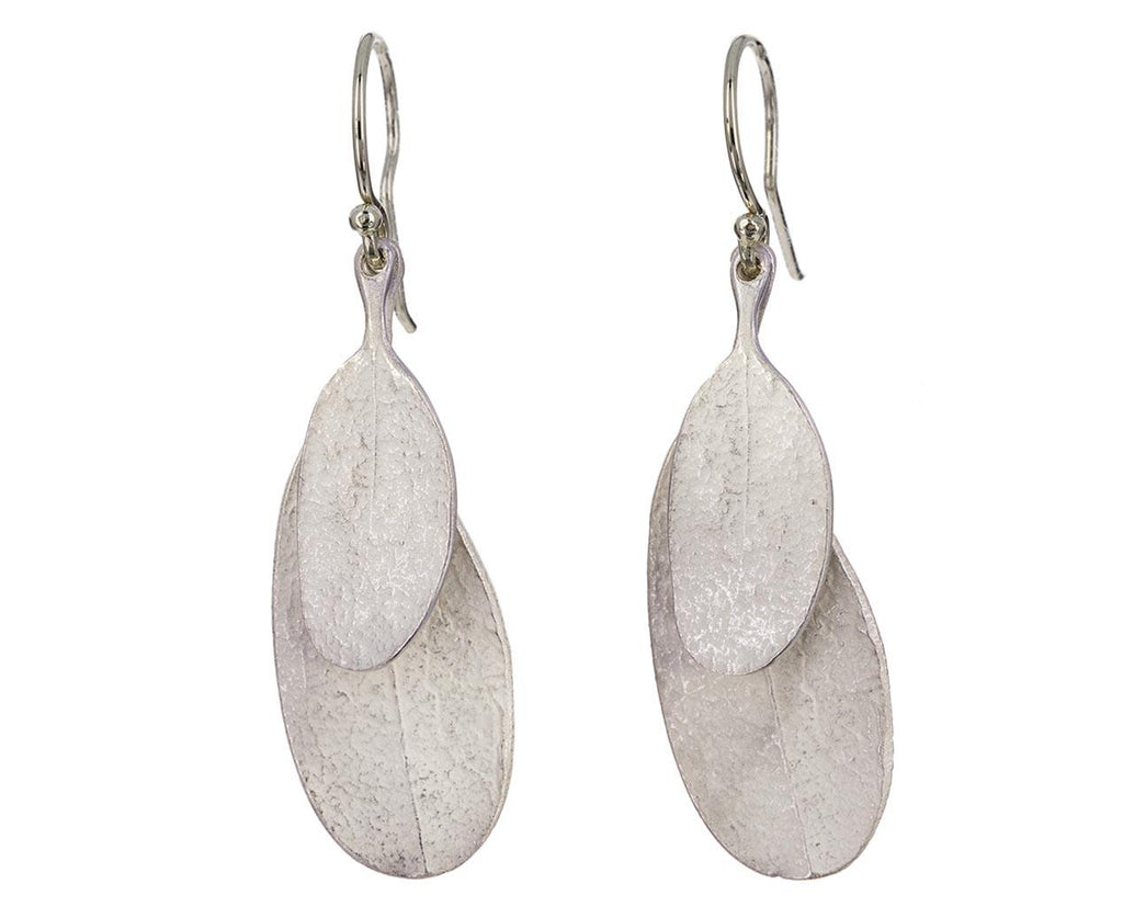 Silver Double Leaf Earrings zoom 1_john_iversen_silver_double_leaf_earrings
