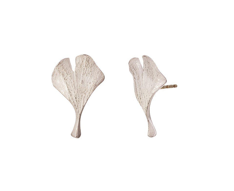 Silver Ginko Post Earrings - TWISTonline