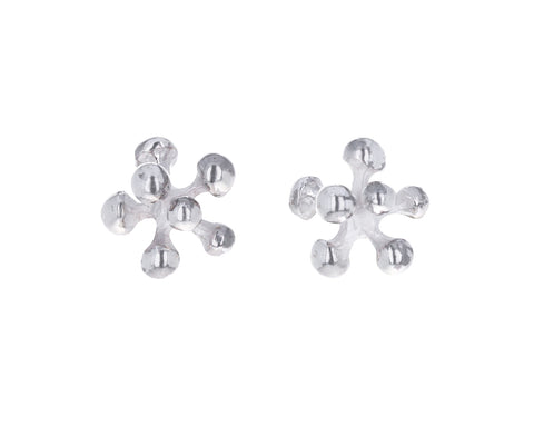 Silver Mini Berry Post Earrings