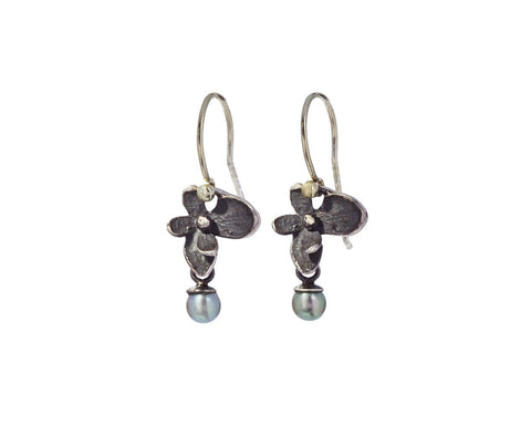 Hydrangea and Akoya Pearl Earrings - TWISTonline