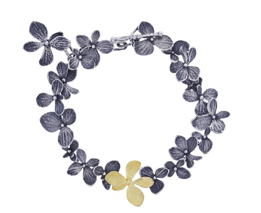 Silver and Gold Hydrangea Bracelet