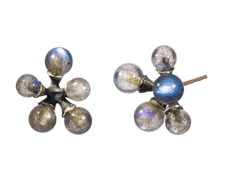Labradorite Micro Jacks Earrings - TWISTonline