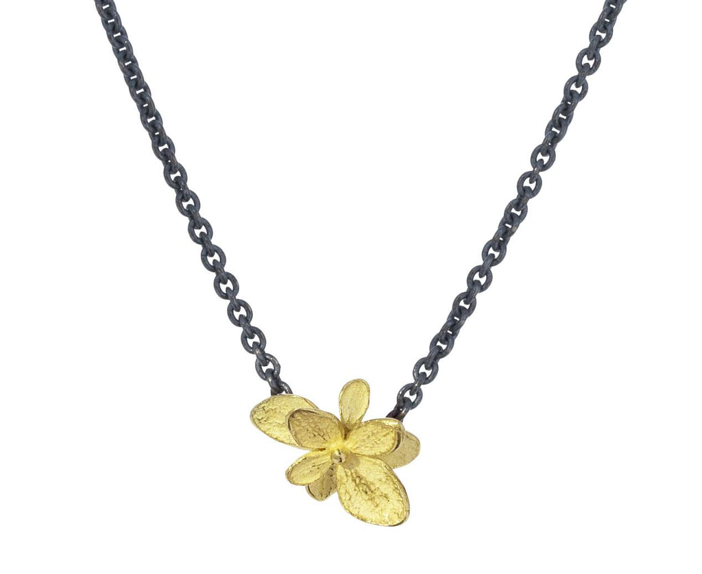 Baby Hydrangea Gold Pendant Necklace - TWISTonline