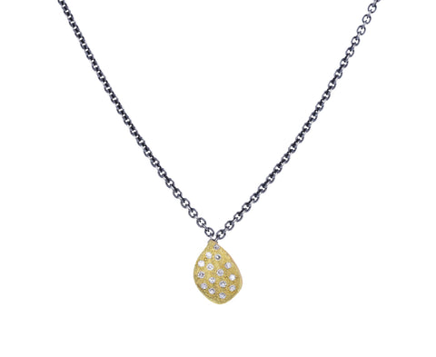 Diamond Gold Leaf Necklace