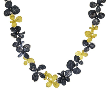 Two-Tone Hydrangea Necklace - TWISTonline