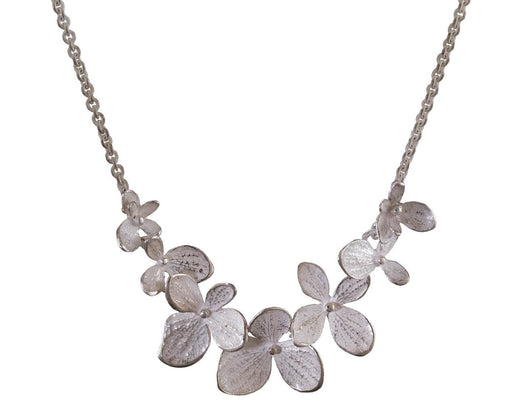 Sterling Silver Multi-Hydrangea Necklace - TWISTonline