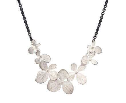 Two Tone Hydrangea Flower Necklace - TWISTonline