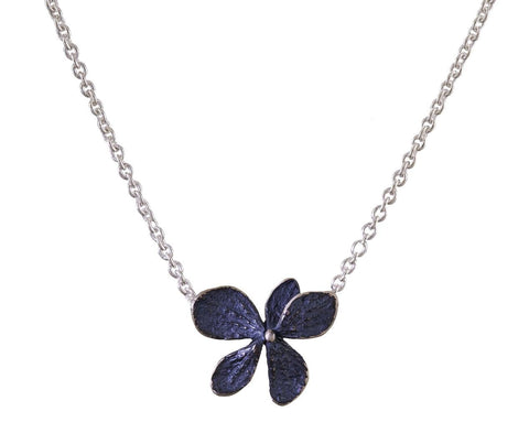 Single Hydrangea Flower Pendant Necklace - TWISTonline