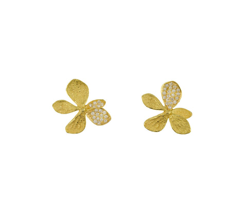 Single Hydrangea Diamond Earrings - TWISTonline