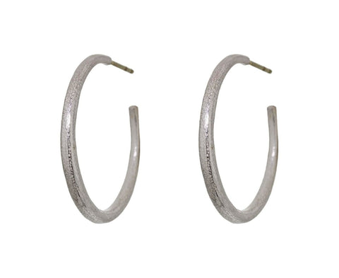 Silver Hoop Earrings - TWISTonline