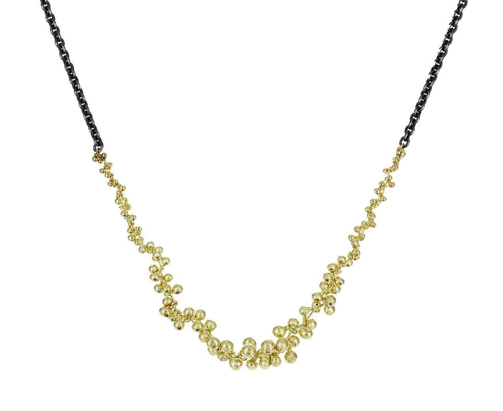 Gold and Silver V Necklace zoom 1_john_iversen_gold_silver_seed_necklace
