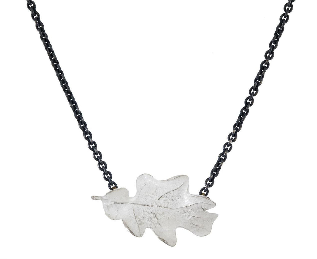 Oak Leaf Necklace zoom 1_john_iversen_silver_oak_leaf_necklace