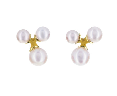 Trio Jacks Akoya Pearl Earrings - TWISTonline