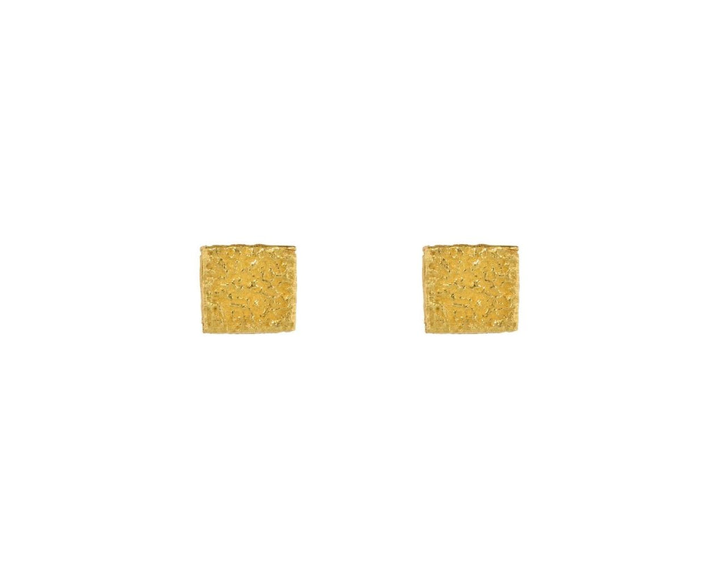Diamond Edged Square Earrings zoom 1