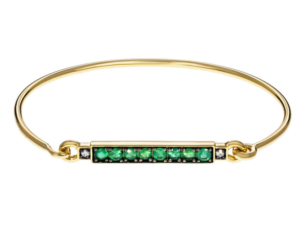 Emerald and Diamond Bar Prive Bangle - TWISTonline
