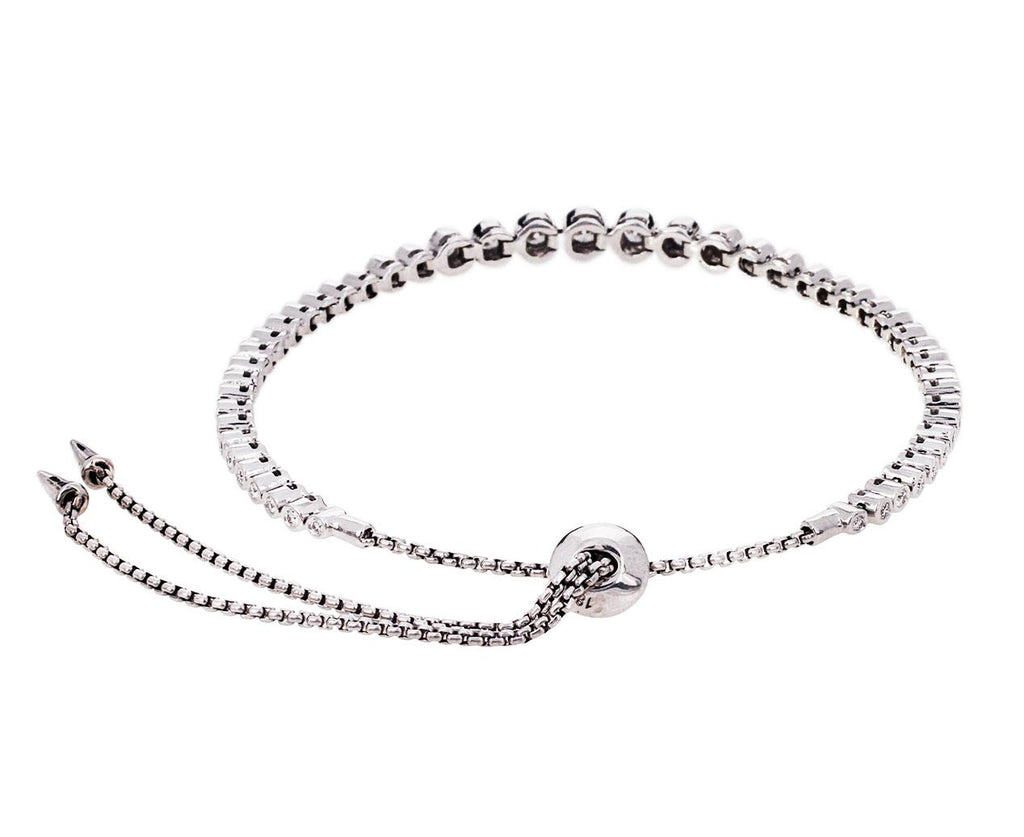White Gold Diamond Prive Slider Bracelet - TWISTonline