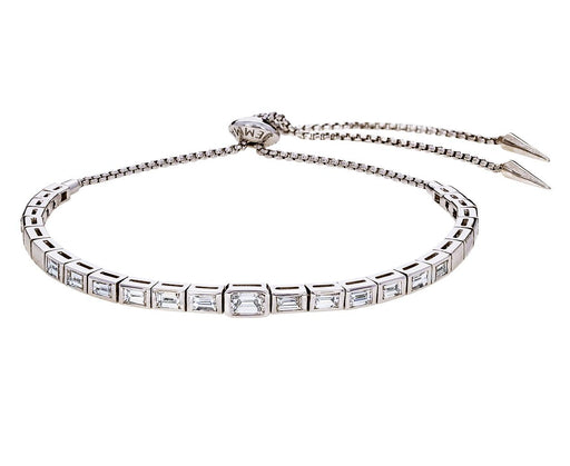 White Gold Diamond Baguette Prive Slider Bracelet - TWISTonline