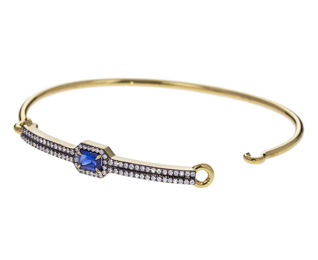 Blue Sapphire Diamond Privé Closed Bangle - TWISTonline