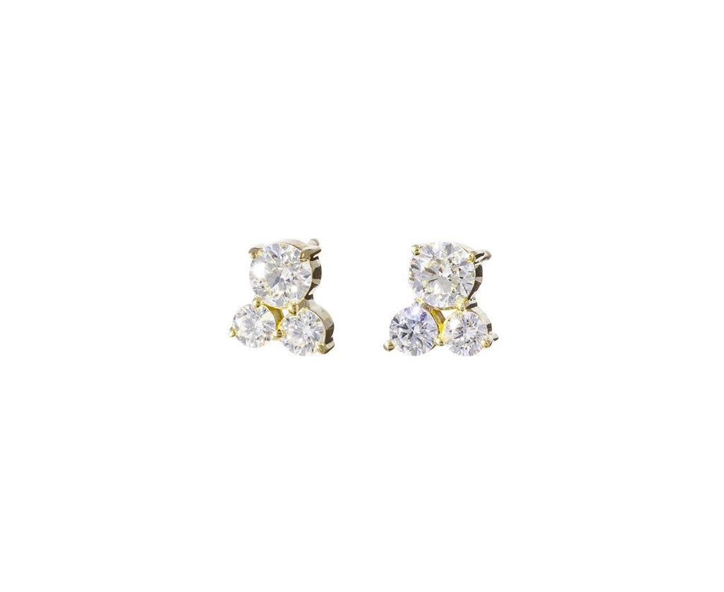 Diamond Cluster Earrings - TWISTonline