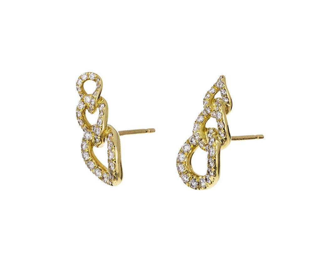 Diamond Curb Link Climber Earrings - TWISTonline
