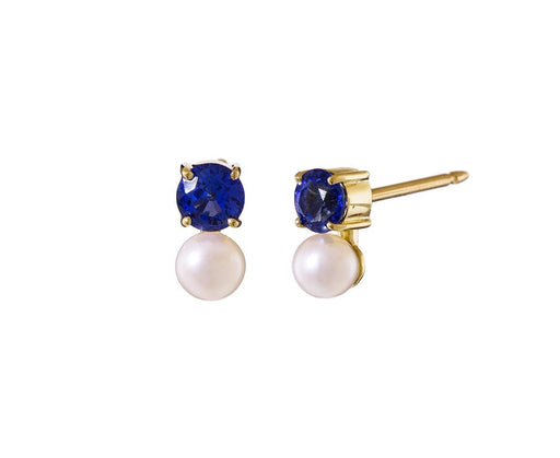 Pearl and Sapphire Privé Earrings - TWISTonline