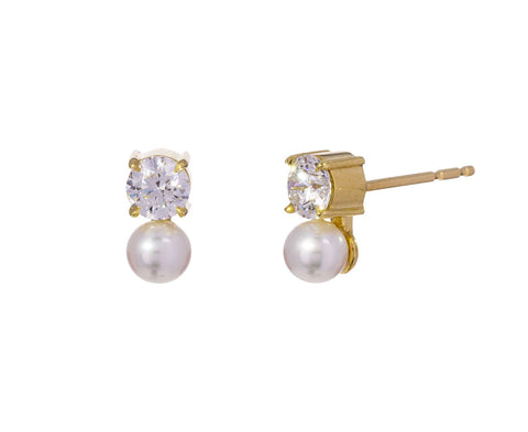 Diamond and Pearl Prive Earrings