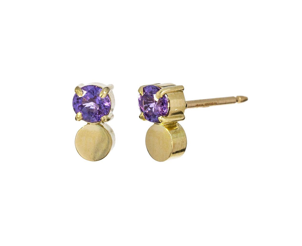 Purple Sapphire Petite Privé Earrings - TWISTonline