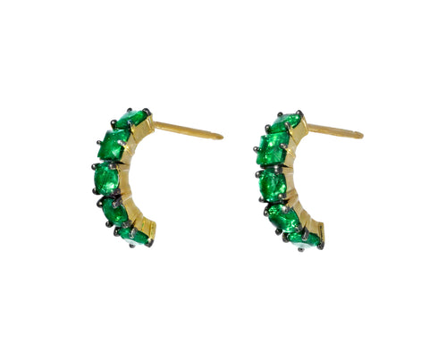 Toujours Emerald Huggie Earrings
