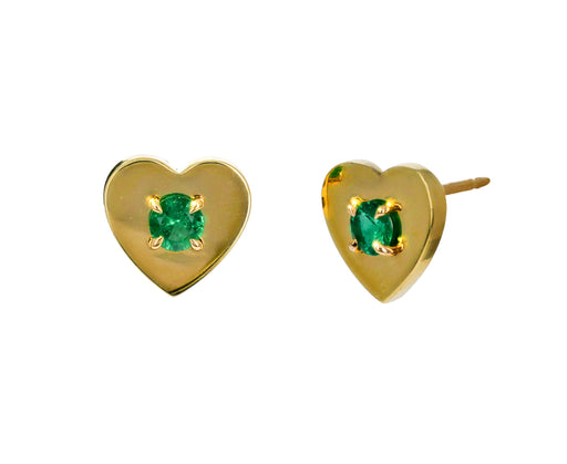 Prive Emerald Heart Studs - TWISTonline