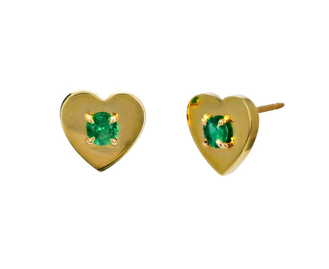 Prive Emerald Heart Studs