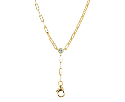 Gold and Diamond Prive Lariat Necklace