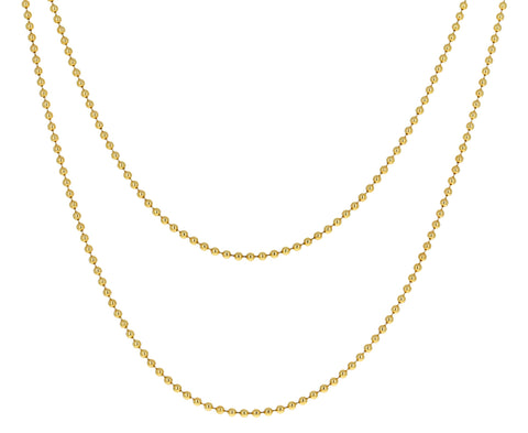 Gold Prive Ball Chain Necklace