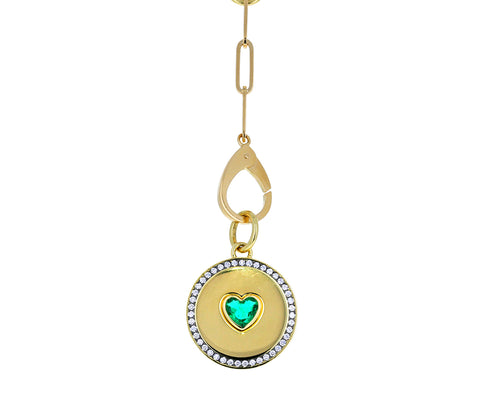 Gold and Diamond Prive Emearld Heart Pendant ONLY