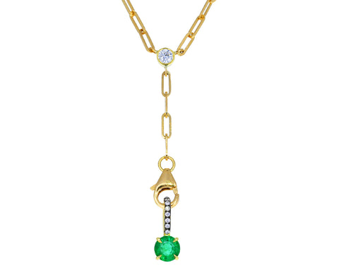 Gold and Diamond Prive Emerald Pendant ONLY