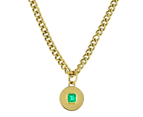 Gold and Emerald Pendant ONLY