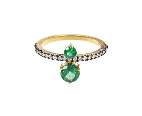 Emerald and Diamond Prive Ring - TWISTonline