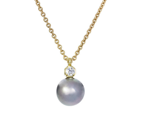 Tahitian Pearl and Diamond Prive Necklace - TWISTonline