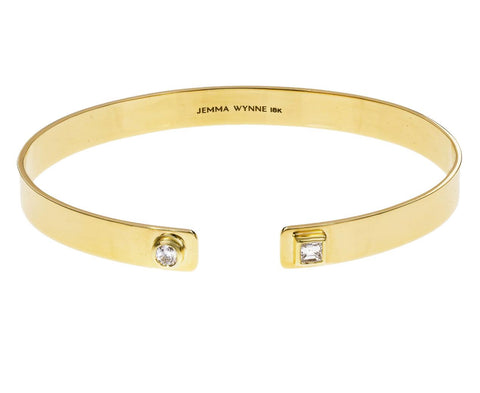 Double Diamond Open Cuff Prive Bracelet - TWISTonline