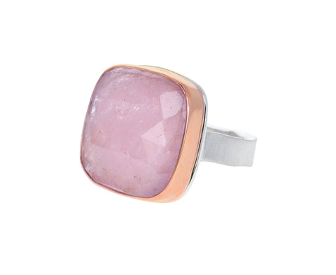 Rose Cut Morganite Ring