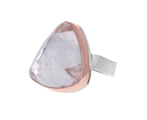 Inverted Triangle Morganite Ring