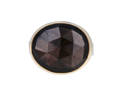 Oval Brown Sapphire Ring